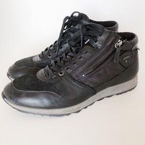 ECCO Sneak Zip High Top Sneakers Black - Size 10.5